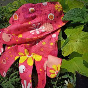 Rękawice ogrodowe w kwiaty rozmiar M